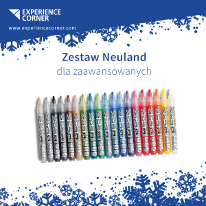 AcrylicOne MEDIUM, round nib 2,5mm ‒ 19/Set